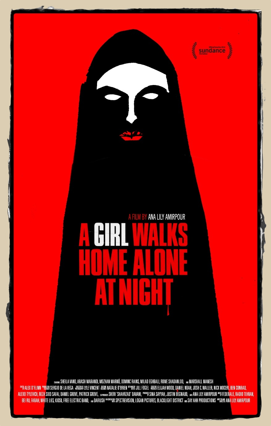 a girl walks home alone at night-poster